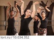 Купить «Ballet Students Practicing», фото № 10034352, снято 16 марта 2018 г. (c) PantherMedia / Фотобанк Лори