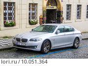 Купить «BMW F10 5-series», фото № 10051364, снято 21 июля 2014 г. (c) Art Konovalov / Фотобанк Лори