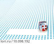 Купить «empty space to write and dice», фото № 10098192, снято 14 июля 2020 г. (c) PantherMedia / Фотобанк Лори