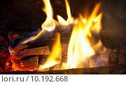 Огонь (крупный план) Стоковое фото, фотограф E. O. / Фотобанк Лори