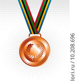 Купить «Bronze medal with ribbons background», иллюстрация № 10208696 (c) PantherMedia / Фотобанк Лори