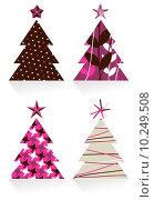 Купить «Christmas trees made with different textures design», иллюстрация № 10249508 (c) PantherMedia / Фотобанк Лори
