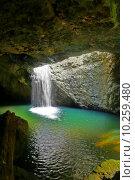 Купить «Natural Arch Waterfall», фото № 10259480, снято 18 июня 2019 г. (c) PantherMedia / Фотобанк Лори