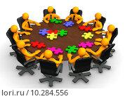 Купить «Conference Table Teamwork», фото № 10284556, снято 16 сентября 2019 г. (c) PantherMedia / Фотобанк Лори
