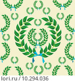 Купить «Seamless laurel wreath pattern», иллюстрация № 10294036 (c) PantherMedia / Фотобанк Лори