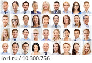 Купить «collage with many business people portraits», фото № 10300756, снято 19 августа 2019 г. (c) Syda Productions / Фотобанк Лори