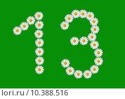 Купить «number thirteen made in daisy flower», фото № 10388516, снято 28 марта 2020 г. (c) PantherMedia / Фотобанк Лори