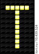 Купить «Vector illustration of single scoreboard letter icon », иллюстрация № 10439524 (c) PantherMedia / Фотобанк Лори