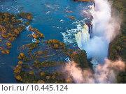 Купить «Victoria Falls from the Air», фото № 10445124, снято 19 июля 2018 г. (c) PantherMedia / Фотобанк Лори