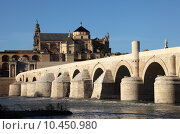 Купить «Roman Bridge with the Cathedral-Mosque of Cordoba in the background. Andalusia, », фото № 10450980, снято 23 марта 2019 г. (c) PantherMedia / Фотобанк Лори