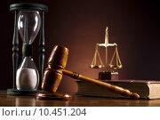 Купить «Judge gavel», фото № 10451204, снято 25 мая 2018 г. (c) PantherMedia / Фотобанк Лори