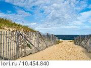 Купить «Path way to the beach at Cape Cod», фото № 10454840, снято 26 октября 2014 г. (c) Николай Охитин / Фотобанк Лори