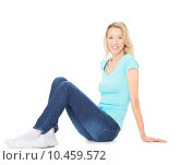 Купить «person adult female isolated smiling», фото № 10459572, снято 24 мая 2018 г. (c) PantherMedia / Фотобанк Лори