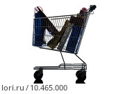 Купить «shopping cart with christmas gifts silhouette», фото № 10465000, снято 25 марта 2019 г. (c) PantherMedia / Фотобанк Лори