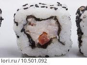 Купить «Sushi isolated on a white background», фото № 10501092, снято 20 января 2020 г. (c) PantherMedia / Фотобанк Лори