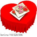 Купить «Allsorts heart-shaped cookies for Valentine's Day», фото № 10520596, снято 18 октября 2018 г. (c) PantherMedia / Фотобанк Лори