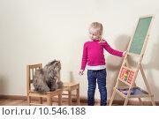 Купить «girl cute animal fun child», фото № 10546188, снято 21 февраля 2019 г. (c) PantherMedia / Фотобанк Лори