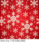 Купить «Christmas wooden snowflakes pattern», иллюстрация № 10556060 (c) PantherMedia / Фотобанк Лори