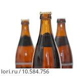Купить «three bottles of beer, only one in focus», фото № 10584756, снято 21 мая 2019 г. (c) PantherMedia / Фотобанк Лори