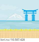 Купить «Fuji and morning sunrays », иллюстрация № 10587428 (c) PantherMedia / Фотобанк Лори