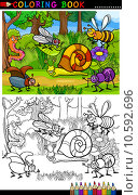 Купить «Cartoon insects or bugs for coloring book», иллюстрация № 10592696 (c) PantherMedia / Фотобанк Лори