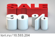 Купить «Sale - price reduction of 90% », фото № 10593204, снято 27 июня 2019 г. (c) PantherMedia / Фотобанк Лори