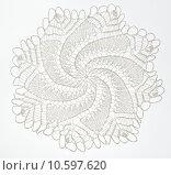 Купить «Crocheted lace on white», фото № 10597620, снято 21 июля 2015 г. (c) Ярочкин Сергей / Фотобанк Лори