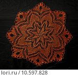 Купить «Crocheted lace napkin», фото № 10597828, снято 22 июля 2015 г. (c) Ярочкин Сергей / Фотобанк Лори