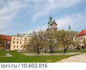 Купить «Wawel cathedral is a Roman Catholic church located on Wawel Hill in Krakow, Poland.», фото № 10603016, снято 19 марта 2019 г. (c) PantherMedia / Фотобанк Лори