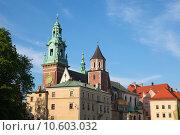 Купить «Wawel cathedral is a Roman Catholic church located on Wawel Hill in Krakow, Poland.», фото № 10603032, снято 19 марта 2019 г. (c) PantherMedia / Фотобанк Лори