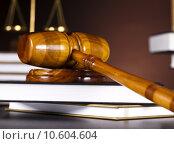 Купить «Judges gavel and law books », фото № 10604604, снято 6 июля 2020 г. (c) PantherMedia / Фотобанк Лори