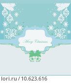 Купить «Christmas Framework style card with baubles», иллюстрация № 10623616 (c) PantherMedia / Фотобанк Лори