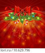 Купить «Christmas glowing packing, ornamental design elements», фото № 10629796, снято 19 октября 2019 г. (c) PantherMedia / Фотобанк Лори