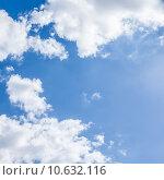 Купить «White clouds on blue sky», фото № 10632116, снято 20 сентября 2019 г. (c) PantherMedia / Фотобанк Лори