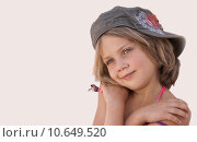 Купить «portrait girl child girls cap», фото № 10649520, снято 27 июня 2019 г. (c) PantherMedia / Фотобанк Лори