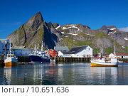 Купить «Fishing port in Norway», фото № 10651636, снято 18 июня 2019 г. (c) PantherMedia / Фотобанк Лори