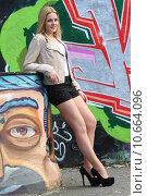 Купить «woman blond slim legs thin», фото № 10664096, снято 18 февраля 2020 г. (c) PantherMedia / Фотобанк Лори
