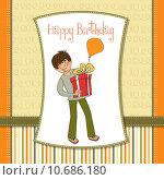 Купить «birthday card with boy», фото № 10686180, снято 23 февраля 2019 г. (c) PantherMedia / Фотобанк Лори