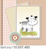 Купить «cute baby shower card », фото № 10697480, снято 23 февраля 2019 г. (c) PantherMedia / Фотобанк Лори