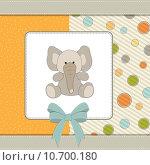 Купить «welcome baby card with elephant», фото № 10700180, снято 23 февраля 2019 г. (c) PantherMedia / Фотобанк Лори