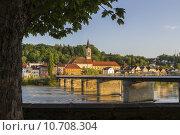 Купить «water river church bridge bavaria», фото № 10708304, снято 23 марта 2019 г. (c) PantherMedia / Фотобанк Лори