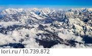 Купить «Himalaya Everest mountain range panorama», фото № 10739872, снято 17 июля 2019 г. (c) PantherMedia / Фотобанк Лори