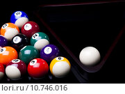 Купить «Billiard balls isolated on black », фото № 10746016, снято 23 февраля 2019 г. (c) PantherMedia / Фотобанк Лори