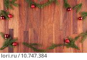 Купить «christmas decoration with copy space», фото № 10747384, снято 20 июня 2018 г. (c) PantherMedia / Фотобанк Лори