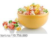 Купить «Bowl of popcorn», фото № 10756880, снято 19 июня 2019 г. (c) PantherMedia / Фотобанк Лори