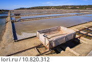 Купить «View of Salt evaporation ponds in Secovlje», фото № 10820312, снято 23 января 2019 г. (c) PantherMedia / Фотобанк Лори