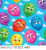Купить «Seamless background with balloons 3», иллюстрация № 10821440 (c) PantherMedia / Фотобанк Лори