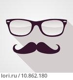Купить «Vintage hipster face geometric pattern.», иллюстрация № 10862180 (c) PantherMedia / Фотобанк Лори