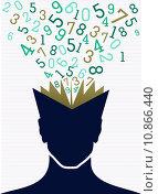 Купить «Education numbers human head book back to school concept.», иллюстрация № 10866440 (c) PantherMedia / Фотобанк Лори