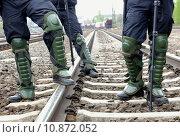 Купить «safety security police barrier demonstration», фото № 10872052, снято 27 июня 2019 г. (c) PantherMedia / Фотобанк Лори